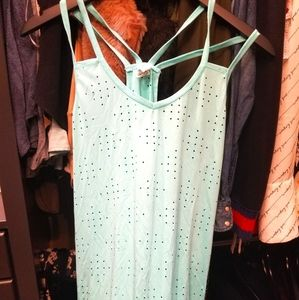 TEAL color workout top worn once !!